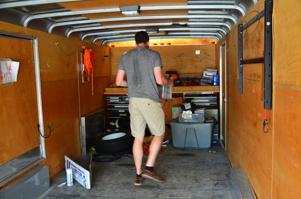 Ben packs up the trailer